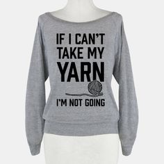 Make new friends by letting them know you're a yarn junkie