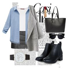 """""""Untitled #56"""" by clodfever on Polyvore featuring Whiteley, Topshop, MaxMara, WithChic, Yves Saint Laurent, Marc Jacobs, Chanel, ALDO, women's clothing and women"""
