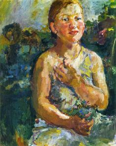 oskar kokoschka girl with flowers