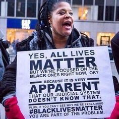 Exactly! My answer to all the people angry about the black lives matter who DO NOT UNDERSTAND and say 'all lives matter'. Everyone should take an anthropology course!