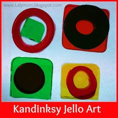 This Kandinsky for Kids art project is a great way to introduce toddlers, preschoolers and kids to the works of Piet Mondrian using an edible, fun medium!