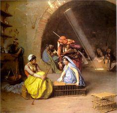 GEROME Jean-Leon (1824 – 1904) Almees jouant aux echecs. 1870