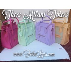 The Milani Tote Bags are now on website!