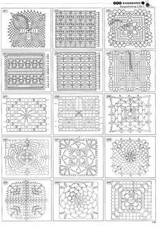 Crochet : diagrammes - Tutos et idées du net