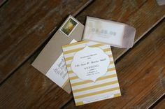 Oh So Beautiful Paper: Ellie + Brendan's Modern Yellow Save the Dates