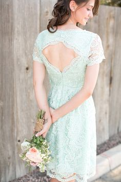 Beautiful mint green bride's maid dress