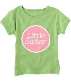 Review little sister sibling circle tee. . http://www.amazon.com/exec/obidos/ASIN/B006CV6LIG/tipscomputer-20