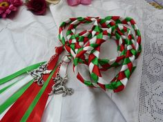 Welsh Hand fasting wedding cord with dragon by dancingwithbadgers