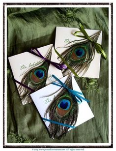 MELODIE Peacock Themed Petit Wedding by PeacockInvitations on Etsy, $2.95