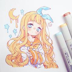 🌠 Ibu_Chuan 🌠 (@ibi_chuan) / Twitter Anime Drawings Sketches, Cool Art Drawings, Anime Sketch, Cartoon Drawings, Manga Drawing, Loli Kawaii, Kawaii Anime Girl, Anime Art Girl, Cute Art Styles