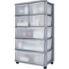 Buy Argos Home 7 Drawer Silver Plastic Wide Tower Storage Unit at Argos. Thousands of products for same day delivery or fast store collection. Storage Trolley, Lego Storage, Craft Storage, Storage Boxes, Storage Chest, Plastic Storage Drawers, Self Storage Units, Cleaning Gloves, Under Stairs Cupboard