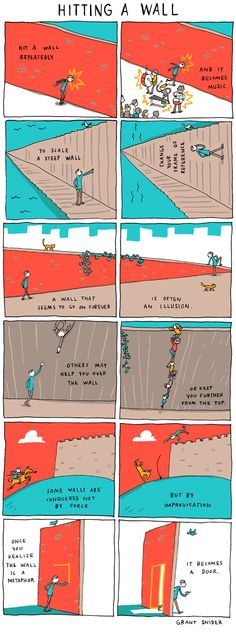 Hitting a Wall by Grant Snider