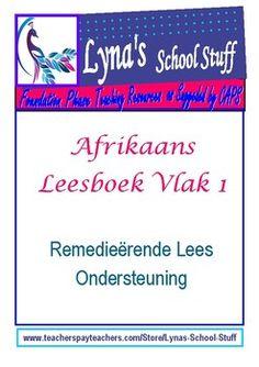 Afrikaans Leesboek Vlak 1 by Lyna's School Stuff Grade R Worksheets, Afrikaans, Guided Reading, Teacher Newsletter, Teacher Pay Teachers, Grade 1, Maths, School Stuff, Books To Read