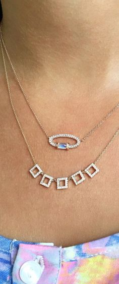 Delicate diamond necklaces