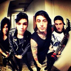Jake Pitts, Andy Biersack, Ronnie Radke and Jacky Vincent