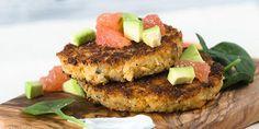 Quinoa Salmon Cakes with Citrus Salsa