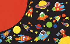 Outer-space-collage by Stella Baggott, via Flickr