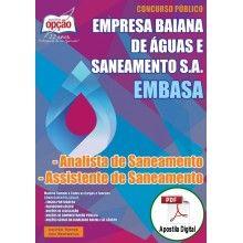 Apostila Digital Concurso EMBASA 2015 - Analista de Saneamento e Assistente de Saneamento