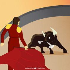 Bullfighting Free Vector