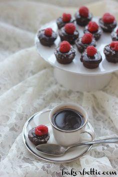 Mini Flourless Chocolate Tortes - Baker Bettie
