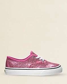 Vans Girls Authentic Lace-up Glitter Sneakers - Walker, Toddler_0