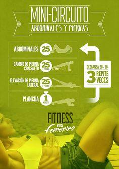 Ejercitar abdominales y piernas.