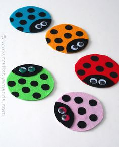 Recycled CD Ladybugs by @Amanda Formaro - CraftsbyAmanda.com