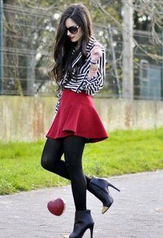 Inspiración para usar faldas cortas en invierno   ActitudFEM