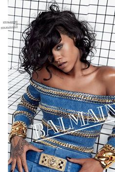 She was photographed by Inez van Lamsweerde and Vinoodh Matadin for the Balmain spring/summer 2014 campaign.