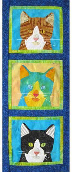 Three Little Kittens -- a class by Nancy S. Brown, Sunday, December 9, 2012, New Pieces quilt store (Berkeley, California)