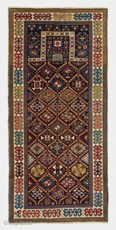 An Exceptional Akstafa prayer rug, inches cm). Perfect condition, all original as found, ca late Century. Prayer Rug, Persian Rug, Rugs On Carpet, Oriental Rugs, 19th Century, Interior Decorating, Prayers, Bohemian Rug, Antiques