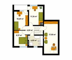 Projekt domu Sopran - rzut piętra/poddasza