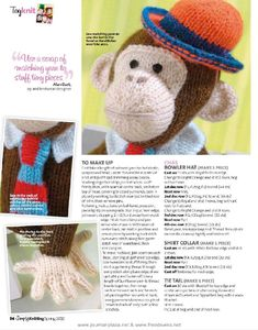 Album Archive - Simply Knitting - May 2010 Knitted Dolls Free, Crochet Dolls, Knit Crochet, Crochet Hats, Knitting Charts, Knitting Stitches, Knitting Patterns Free, Knit Patterns, Free Pattern