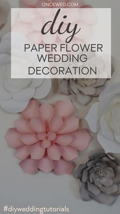 Are you planning on saving some money for your wedding? In this tutorial, you'll learn how to DIY minimalist paper flower wedding decoration that will easily make your wedding look chic and glamorous! #weddingdiy #diyweddingtutorials #diyweddingdecorations #weddingdecorideas