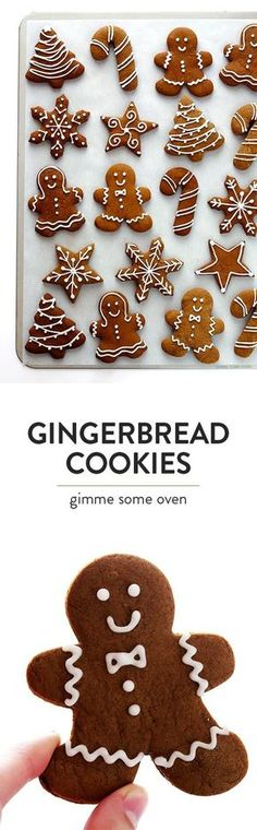 This classic gingerbread cookies recipe is super delicious, totally easy to make, and perfect for decorating around the holidays! | gimmesomeoven.com #gingerbread #christmas #cookies #dessert #recipe
