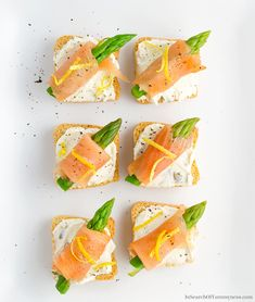 These Smoked Salmon Canapés are a cute addition to any brunch table. Don't skip on the lemon zest - it adds a burst of freshness to this creamy and rich appetizer. #spring #easter #brunch #appetizer