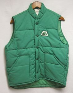 Vintage Pioneer Seeds Vest  Green with White by VintAGEDApparel, $25.00