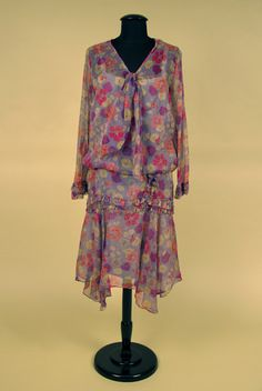 Nasturtium Print Chiffon Dress, 1927-1930.