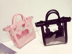 Transparent PVC Beach Bag factory China Bling Rhinestone Handbag Women Bags  Crystal Jelly Waterproof Shoulder Bag Design Bolsas f2de45c52e837