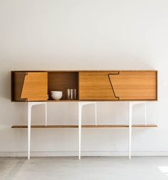 Sébastien Boucquey; Bamboo and Enameled Steel 'Neus' Sideboard for Jo-a, 2014.