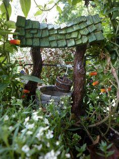 Miniature Fairy Garden Wishing Well , Indoor/ Outdoor