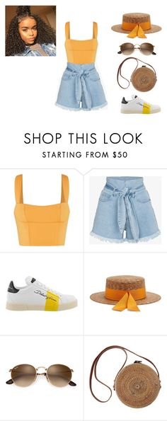 """You're My Sunshine, My One and Only Sunshine"" by ranimashames on Polyvore featuring Nanushka, Dolce&Gabbana and Federica Moretti"