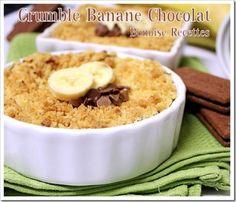 crumble chocolat banane