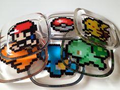 Set of 6 Pokemon coasters. $36.00, via Etsy.