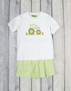 Stellybelly Tractor Short Set