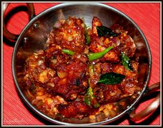 South Indian Dry Fry Chicken