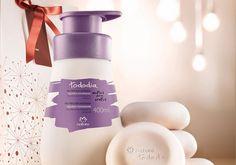 Presente Natura Tododia Algodão Envolvente - Desodorante Hidratante + Sabonetes em Barra + Embalagem
