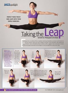 Advice for perfecting your center leaps:                              …