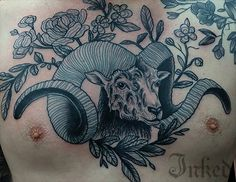 Chest piece by Little Linda #InkedMagazine #chestpiece #tattoo #animal #art #tattoos