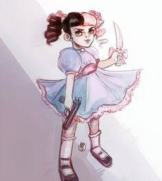 Melanie ♡ Inspired by one of her song's cover Melanie Martinez Style, Melanie Martinez Mad Hatter, Mel Martinez, Melanie Martinez Songs, Melanie Martinez Drawings, Crybaby Melanie Martinez, Melanie Martinez Anime, Cry Baby, Adele